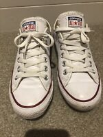 Converse Whithe Leather Sneackers Size 5