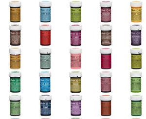 Sugarflair Concentrated SPECTRAL 25g Food Colouring Paste Gel 50+ Colours