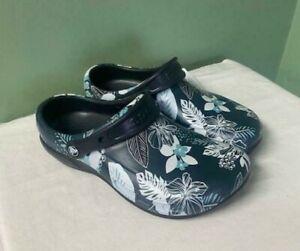 Men's Crocs Bistro Graphic Clog Tropical Floral 204044-0CV Size 8 / Women 10