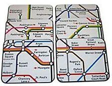 Lot De 6 Dessous De Verre Carte Égouts De Londres (ba)