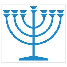 """Menorah Jewish car bumper sticker decal 4"""" x 4"""""""