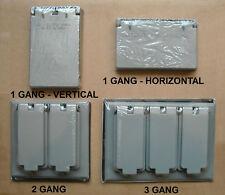 BELL OUTDOOR WEATHERPROOF BOX DECORA GFCI COVER 1 (VERTICAL HORIZONTAL) 2 3 GANG