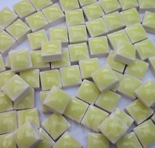 100pcs - 110grams Micro Ceramic Mosaic Tiles Cream Yellow YP3