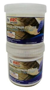 2 Part Epoxy Wood Filler 1 lb ( 10 Oz ) Natural Resin Putty Wood Replacement Kit