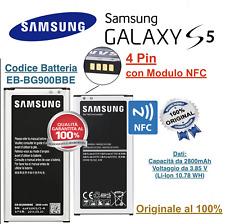 Batteria Samsung Galaxy S5 SM-G900f GT I9600 NFC 2800 mAh EB-BG900BBE Originale