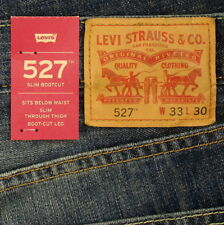 Levis 527 Jeans Mens New Slim Boot Cut Size 33 x 30 DARK BLUE WITH FADE Levi's