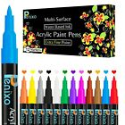 Acrylic Paint Pens-Set of 12 Premium Markers Extra Fine Tip for DIY Art Project