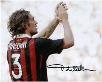 Paolo Maldini Autografo Foto Autografata Sport Milan Signed Photo with Coa