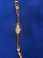 Watch, Bulova Quartz Woman's Bracelet w/ 6 Diamond Accents Gorgeous Free US Ship