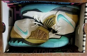 YOUTH NIKE KYRIE IRVING 6 CONCEPTS (GOLDEN MUMMY) AQUA, METALLIC GOLD,SZ 6Y NEW