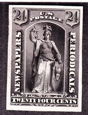 US PR17TC3a 24c Newspaper Black Trial Color Proof on India (001)