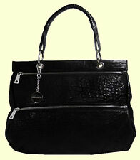 DKNY  Bubble Lamb One Handle Black Leather Tote Bag Msrp $345