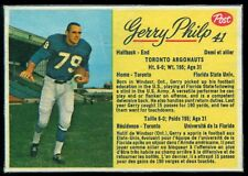 1963 POST CFL FOOTBALL #41 Gerry Philp EX+ cond TORONTO ARGONAUTS Florida State