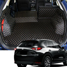 Interior Leather Rear Boot Cargo Trunk Mats Pad For Mazda CX-5 CX5  2017-2018
