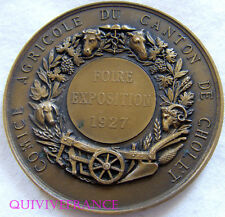MED3864 - MEDAILLE FOIRE EXPOSITION AGRICOLE CHOLET 1927