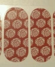 Clearance Jamberry 1/2 Sheet, White Roses on Red, Aug 2015 Host Excl