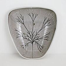 Mid Century Studio Pottery Dish Bowl Leaf Marianne de Trey Organic UK Vtg