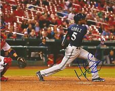 HECTOR GOMEZ MILWAUKEE BREWERS AUTOGRAPHED SIGNED 8X10 PHOTO W/COA