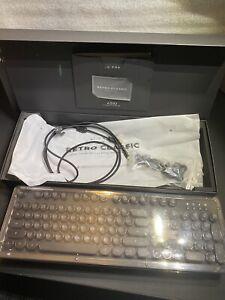 Azio Retro Classic USB Bluetooth Backlit Mechanical Keyboard Black/Silver