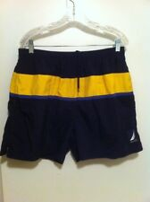 776a53f91e F12 Nautica Vtg Swim Trunks Men's Large L With Pockets Yellow