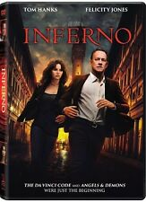 Inferno (DVD 2016) NEW* TOM HANK Action,Mystery, Crime* NOW SHIPPING !