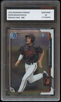 RYAN MOUNTCASTLE 2015 BOWMAN CHROME Topps 1ST GRADED 10 ROOKIE CARD RC ORIOLES