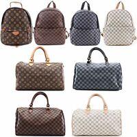 WOMENS LADIES MENS DESIGNER STYLE CHECK SCHOOL TRAVEL GYM SHOULDER BACK PACK BAG