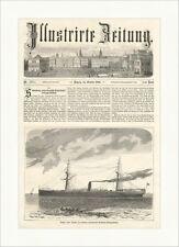 Silesia, nuevos Barco de Vapor Hamburgo americana Packetfahrt barco madera clave e 5243