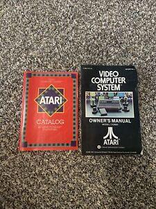 Atari Model CX2600 Owner's Manual W/ Game Catalog