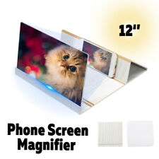12'' Magnifier Mobile HD Screen Stand Bracket Amplifier For Smartphone Video