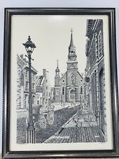 Vintage Lazo Print Eglise Bonsecours Church Montreal Canada Signed LAZO 177/500
