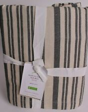 """Nwt Pottery Barn Antique Stripe bed skirt, queen, gray, 14"""" drop"""
