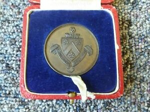 Dulwich College Bronze Swimming Standard Medal 1937 Cased