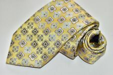Men's Canali Floral Gold 100% Silk  Neck Tie made in Italy