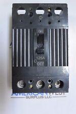 THQD32125 GE THQD 3 pole 125 amp 240 volt 22kA Circuit Breaker TESTED