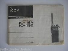 Icom-4sa / e (Genuino Manual de instrucciones sólo).......... radio_trader_ireland.