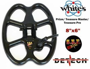 """DETECH 8X 6"""" S.E.F For Whites Prizm Treasure Master Treasure Pro Metal Detectors"""