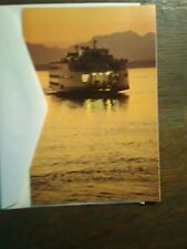 LOT OF 2  WASHINGTON STATE FERRIES CHRISTMAS CARDS  PUGET SOUND FERRY