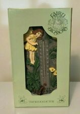 Fairy Blossoms Thermometer, Bright Yellow Garden Decor, Nip -Sale!