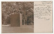 BENNINGTON Vermont VT Statue for Site of the Catamount Tavern 1905 RPPC