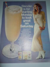 Vintage Slender Diet Shake  Print Magazine Advertisement 1971