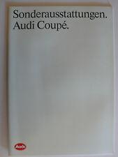 Prospekt Audi Coupe Sonderausstattungen, 1.1991, 32 Seiten
