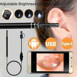 LED Endoscope Otoscope Ear Camera Earwax Removal Kit Ear Cleaning Tool