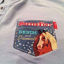 Breyerfest Breyer Horses 2013 Denim & Diamonds Women's SZ Medium Blue Polo Shirt