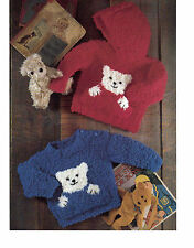 baby / childrens teddy bear sweater chunky knitting pattern 107