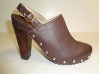 Kenneth Cole Reaction Size 6.5 LOOK AWAY Brown Leather Heels New Womens Shoes