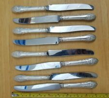 8 Gorham Vintage 1930 Rosemont Silverplate New French Hollow Dinner Knives Lot