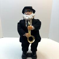 Gemmy Animated Saxophone Blues Santa Christmas Dancing Figure SEE VIDEO