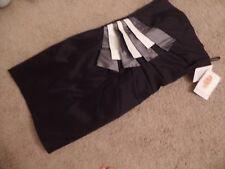 Jessica McClintock NWT $199 Black Tiered Prom Wedding Dress Womens Small 6