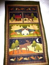 MOOSE On The LOOSE Fabric Large Panel Cotton Craft Quilting - Benartex